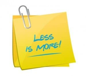 Less is more when it comes to live auction items