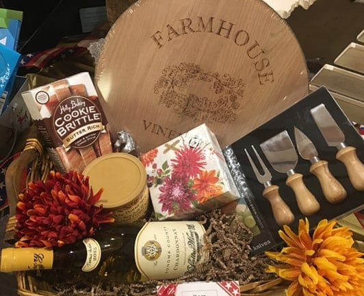 Themed Fundraising Basket For Wine Lovers