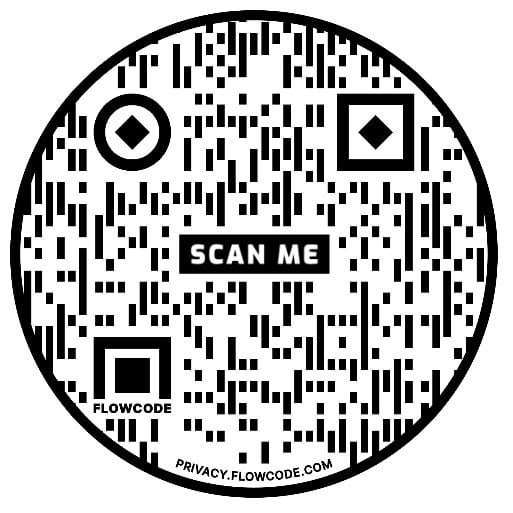 QR code example for virtual fundraiser invitation