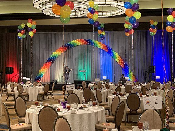 Decor at Over The Rainbow Fundraising Event