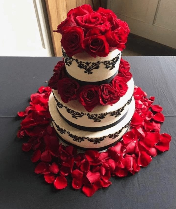 Wedding Cake Floral Arrangement